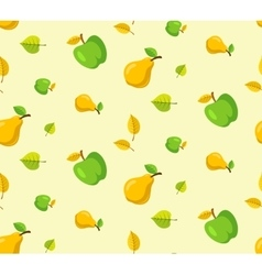 Apples and pears background vector image