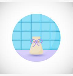 Aromatherapy sachet bottle flat icon vector
