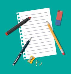Black pencil sharpener and eraser vector