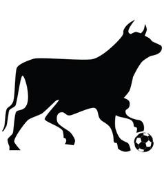 Bull soccer ball vector
