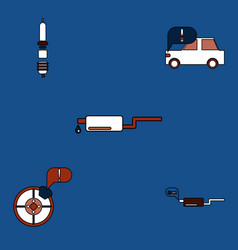Collection of icons and car service equipment vector