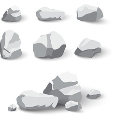Collection of rocks and stone pile vector