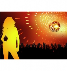 disco dance party vector image vector image