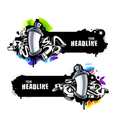 Graffiti banners vector image vector image
