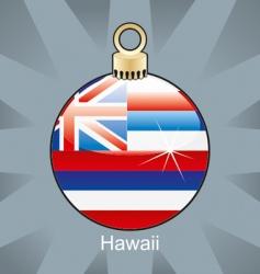 Hawaii flag on bulb vector image vector image