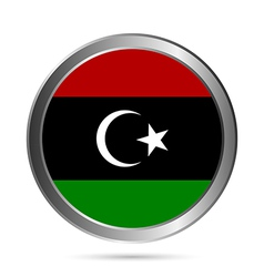 Libya flag button vector