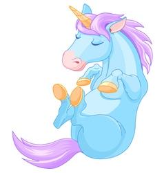 Magic Unicorn is Sleeping vector image vector image