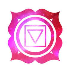 muladhara chakra with outer space vector image vector image