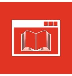 Online education icon design education vector image vector image