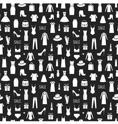 Seamless pattern of ladieswear vector image vector image