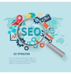 Seo marketing flat vector