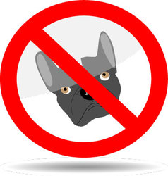 Sign ban dog vector