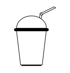 Soda in disposable cup icon image vector