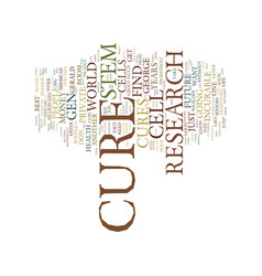The cure text background word cloud concept vector