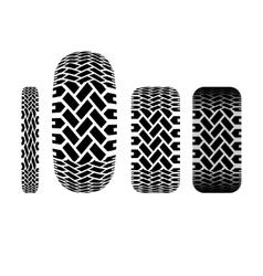 Tire track 6 vector