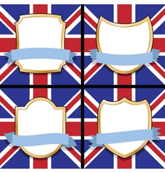 uk shields vector image vector image