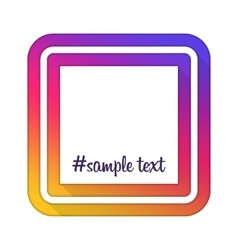 With hashtag frame vector image