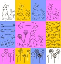 0315 1 rabbits and bunnies v vector image vector image