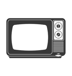 Retro classic tv icon vector