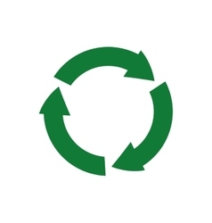 Arrow recycle circle organic ecology icon vector