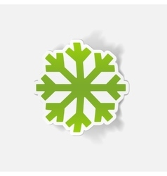 Realistic design element snowflake vector