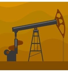 Oil well cartoon vector image