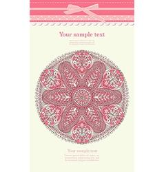 Vintage pink ornament background vector image