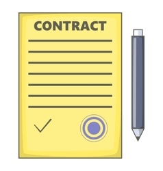 Contract icon cartoon style vector image
