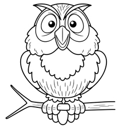 Owl outline vector