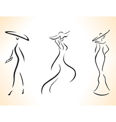 Symbolic stylized woman vector