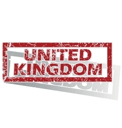 United kingdom outlined stamp vector