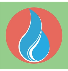 Flat water drop icon vector