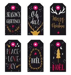 Collection of christmas gift tags vector