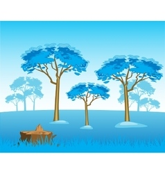 Wild winter landscape vector