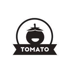black icon on white background tomato vector image