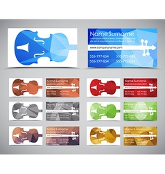 Template music polygonal cards vector