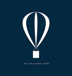 Balloon air icon in white color on blue vector