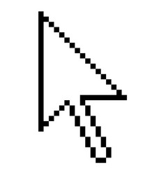 Computer cursor arrow indicator sign vector