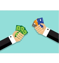 different ways of payment of the purchase vector image