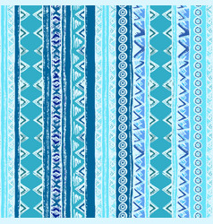 Geometric seamless pattern blue and white colors vector