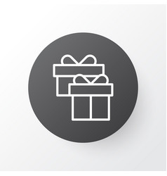 Gift box icon symbol premium quality isolated vector