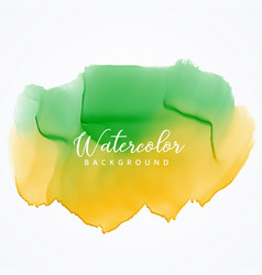 Green and yellow watercolor paint background with vector