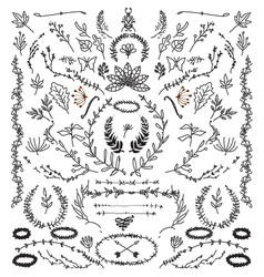 Hand Drawn Vintage design elements vector image vector image