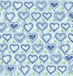 Heart and snowflakes vector image vector image