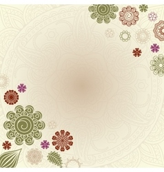 Henna elements greeting card vector image