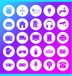 Household appliance solid circle icons vector