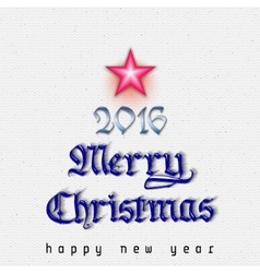 Merry christmas 2016 vector image