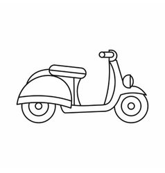 Motorbike icon outline style vector