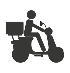 motorcycle delivery food isolated icon vector image vector image