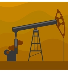 Oil well cartoon vector